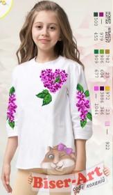 Заготовка детской сорочки на белом льне Biser-Art Д115 - 245.00грн.