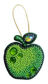 Набор для изготовления броши из бисера Зеленое яблоко