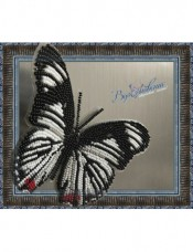 Набор для вышивки бисером на прозрачной основе Бабочка Hypolimnas   usambara Вдохновение BGP-011