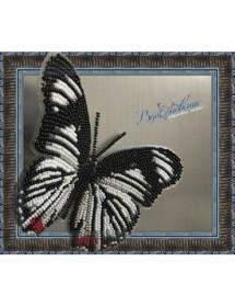 Набор для вышивки бисером на прозрачной основе Бабочка Hypolimnas   usambara