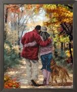 Набор для вышивания бисером Осень в парке