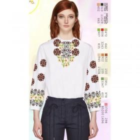Заготовка женской сорочки на белом габардине Biser-Art SZ90 - 320.00грн.
