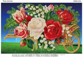 Схема вышивки бисером на атласе Розы Винтаж