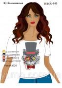 Женская футболка для вышивки бисером Мистер кот