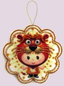 Набор для изготовления игрушки из фетра для вышивки бисером Лев, , 48.00грн., F125, Баттерфляй (Butterfly), Гороскоп