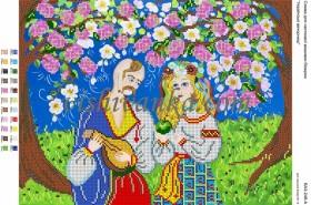 Схема для вышивки бисером на атласе Українські вечорниці Вишиванка А3-248 атлас - 45.00грн.