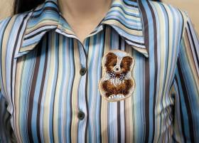 Набор для вышивания бисером украшения Собачка, , 126.00грн., AD-104, Абрис Арт, Собака символ 2018 года своими руками