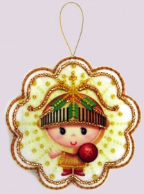 Набор для изготовления игрушки из фетра для вышивки бисером Стрелец, , 48.00грн., F129, Баттерфляй (Butterfly), Гороскоп