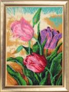 Набор для вышивки бисером Весенние тюльпаны