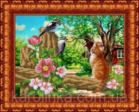 Набор для вышивки бисером Любопытный кот