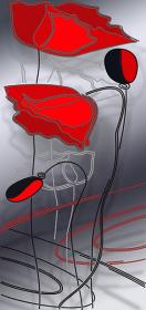 Схема вышивки бисером на атласе Маки, , 159.00грн., АХ2-063, А-строчка, Цветы
