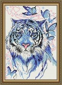 Набор для выкладки алмазной техникой Тигр синий, , 400.00грн., АТ3024, Art Solo, Животные