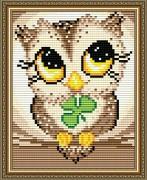 Набор для выкладки алмазной мозаикой Совенок-удача