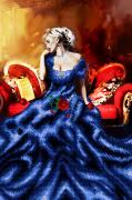 Схема вышивки бисером на атласе Грёзы любви