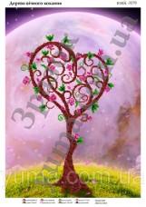 Схема вышивки бисером на атласе Дерево вечной любви Юма ЮМА-3279