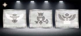 Схема для вышивки бисером на атласе Секрет Триптих, , 270.00грн., СЛТ-2218, Миледи, Картины из нескольких частей