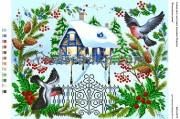 Схема для вышивки бисером на атласе Білосніжна зима