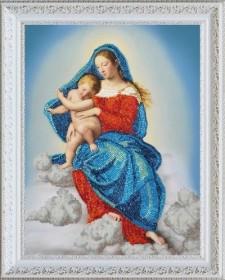 Набор для вышивки бисером Дева Мария с младенцем, , 405.00грн., Р-347, Картины бисером, Иконы 26*35 (А3)