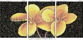 Схема для вышивки бисером на атласе Цветок дружбы (Триптих), , 180.00грн., ЮМА-Т-11, Юма, Картины из нескольких частей