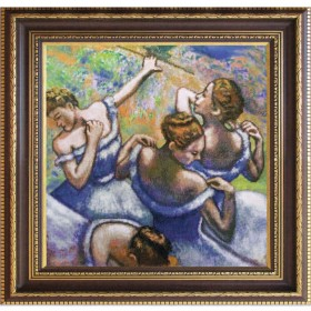 Набор для вышивки нитками на канве Голубые танцовщицы по картине Эдгара Дега Новая Слобода (Нова слобода) СД2251-У - 724.00грн.
