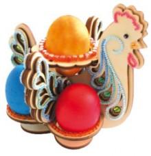 Набор-деревянные конструктор Большая пасхальная курица в голубых тонах Чарiвна мить (Чаривна мить) F-064