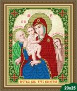 Рисунок на ткани для вышивки бисером Богородица Трёх Радостей