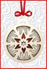 Набор новогоднее украшение из фанеры Новогодняя игрушка Снежинка
