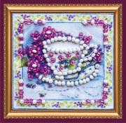 Набор для вышивки бисером мини-магнит Ароматный чай