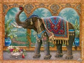 Набор для выкладки алмазной мозаикой Индийский слон