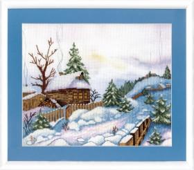 Набор для вышивки крестом Теплая зима