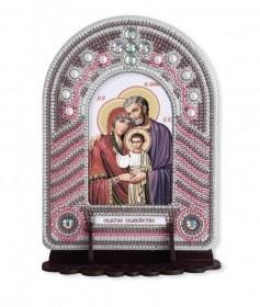 Набор для вышивки иконы с рамкой-киотом Святое семейство