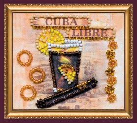Набор-магнит для вышивки бисером Куба Либре