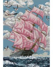 Схема вишивкі бісером на габардині Багряні вітрила Акорнс А2-К-760 - 144.00грн.
