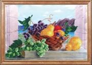 Схема для вышивки бисером на атласе Груши с виноградом