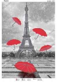 Схема для вышивания бисером на атласе Зонтопад в Париже
