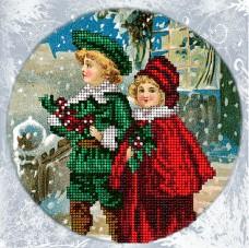 Набор для вышивки ювелирным бисером Рождественские истории 7 Краса и творчiсть 71114