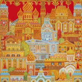 Схема для вышивки бисером на холсте Город расписной