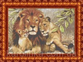 Набор для вышивки бисером Львы