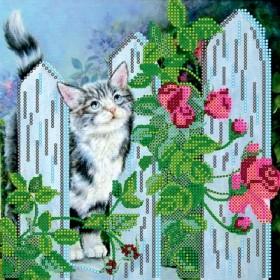 Схема для вышивки бисером на холсте Мартовский кот