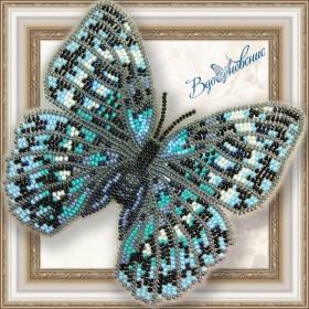Набор для вышивки бисером на прозрачной основе Бабочка Стихофтальма годфри