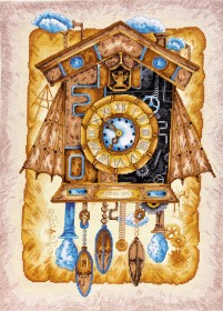 Набор вышивки крестом Часы с кукушкой, , 668.00грн., АН-039, Абрис Арт, Натюрморты