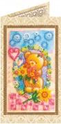 Набор - открытка для вышивки бисером Цветочная поляна