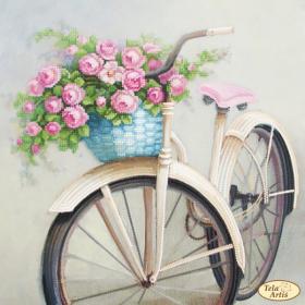 Схема вышивки бисером на атласе Любимый велосипед