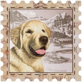 Набор для вышивки нитками Почтовая марка Лабрадор, , 275.00грн., КО4021-У, Новая Слобода (Нова слобода), Собака символ 2018 года своими руками