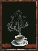 Набор для вышивки крестом Кофейная фантазия - Лев 1