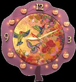 Набор для создания часов с вышитой основой Райские птички Новая Слобода (Нова слобода) РТ6515 - 531.00грн.