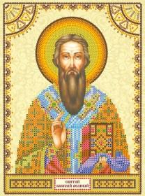 Схема для вышивки бисером на холсте Святой Василий