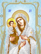 Схема для вышивки бисером Богородица Троеручица