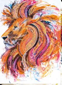 Набор для вышивания бисером Огнегривый Лев