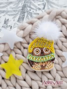 Набор для вышивки бисером украшения Совенок Кузя